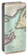 1807 Cary Map Of Nova Scotia And Newfoundland Portable Battery Charger