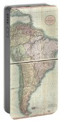 1807 Cary Map Of South America Portable Battery Charger