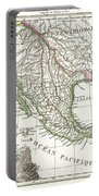 1810 Tardieu Map Of Mexico Texas And California Portable Battery Charger