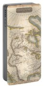 1814 Thomson Map Of North America Portable Battery Charger