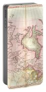1818 Pinkerton Map Of British North America Or Canada Portable Battery Charger