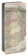 1818 Pinkerton Map Of Spain And Portugal Portable Battery Charger