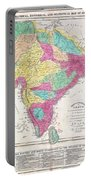1821 Carey Map Of India  Portable Battery Charger