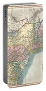 1821 Cary Map Of New England New York Pennsylvania And Virginia Portable Battery Charger