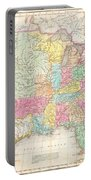 1823 Melish Map Of The United States Of America Portable Battery Charger