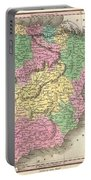 1827 Finely Map Of Spain And Portugal Portable Battery Charger