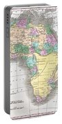 1827 Finley Map Of Africa Portable Battery Charger