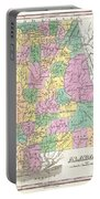 1827 Finley Map Of Alabama Portable Battery Charger
