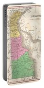 1827 Finley Map Of Delaware Portable Battery Charger