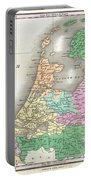 1827 Finley Map Of Holland Or The Netherlands Portable Battery Charger