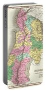 1827 Finley Map Of Israel  Palestine Holy Land Portable Battery Charger