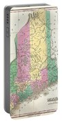 1827 Finley Map Of Maine Portable Battery Charger