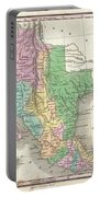 1827 Finley Map Of Mexico Upper California And Texas Portable Battery Charger