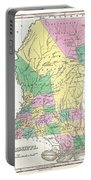 1827 Finley Map Of Mississippi Portable Battery Charger