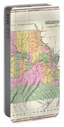 1827 Finley Map Of Missouri Portable Battery Charger