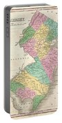 1827 Finley Map Of New Jersey  Portable Battery Charger