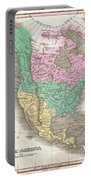 1827 Finley Map Of North America Portable Battery Charger