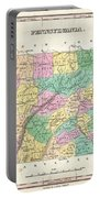 1827 Finley Map Of Pennsylvania Portable Battery Charger