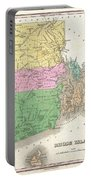 1827 Finley Map Of Rhode Island Portable Battery Charger