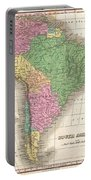1827 Finley Map Of South America Portable Battery Charger