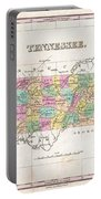 1827 Finley Map Of Tennessee Portable Battery Charger