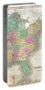 1827 Finley Map Of The United States Portable Battery Charger