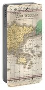 1827 Finley Map Of The World Portable Battery Charger