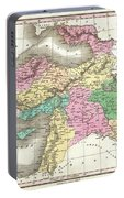 1827 Finley Map Of Turkey In Asia Iraq And Israel Portable Battery Charger
