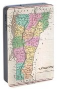 1827 Finley Map Of Vermont Portable Battery Charger
