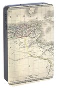1829 Lapie Historical Map Of The Barbary Coast In Ancient Roman Times Portable Battery Charger