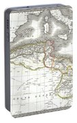 1829 Lapie Map Of The Eastern Mediterranean Morocco And The Barbary Coast Portable Battery Charger