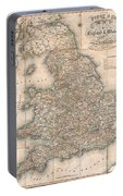 1830 Pigot Pocket Map Of England And Wales Portable Battery Charger