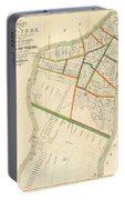1831 Hooker Map Of New York City Portable Battery Charger