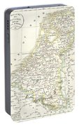 1832 Delamarche Map Of Holland And Belgium Portable Battery Charger