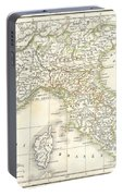 1832 Delamarche Map Of Northern Italy And Corsica Portable Battery Charger
