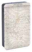 1832 Malte Brun Map Of The World On Mercator Projection Portable Battery Charger