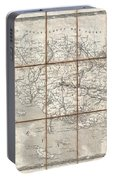 1833 Charle Map Of The Dept Of Morbihan Bretagne France Portable Battery Charger