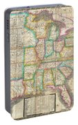 1835 Webster Map Of The United States Portable Battery Charger