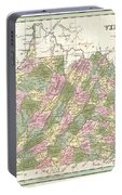 1838 Bradford Map Of Virginia Portable Battery Charger