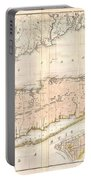 1842 Mather Map Of Long Island New York Portable Battery Charger by Paul Fearn