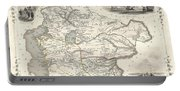 1851 Tallis And Rapkin Map Of Independent Tartary  Portable Battery Charger