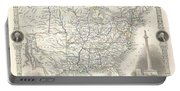 1851 Tallis And Rapkin Map Of The United States Portable Battery Charger