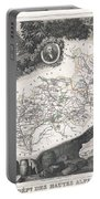 1852 Levasseur Map Of The Department Hautes Alpes France  Portable Battery Charger