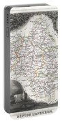 1852 Levasseur Map Of The Department L Aveyron France Roquefort Cheese Region Portable Battery Charger