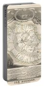 1852 Levasseur Map Of The Reunion Or The Ile Bourbon Indian Ocean Portable Battery Charger