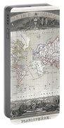 1852 Levasseur Map Of The World Portable Battery Charger