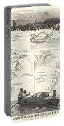 1852 Levassuer Map Of Senegal Senegambia And Madagascar Portable Battery Charger