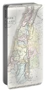 1852 Philip Map Of Palestine  Israel  Holy Land Portable Battery Charger