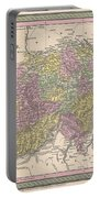 1853 Mitchell Map Of Switzerland  Portable Battery Charger