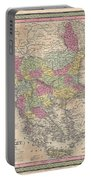 1853 Mitchell Map Of Turkey In Europe And Greece  Greece Balkans Macedonia Portable Battery Charger
